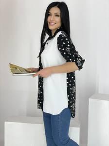 Рубашка удлиненная А39114