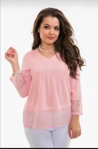 Блуза с кружевом Ц9402