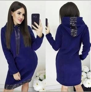 Платье короткое с длинным рукавом Ш8987