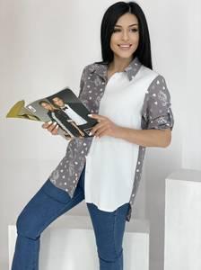 Рубашка удлиненная А39115