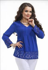 Блуза с кружевом Ц9403
