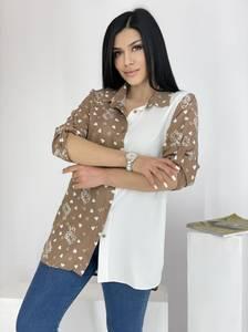 Рубашка удлиненная А39116