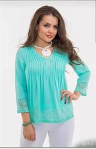 Блуза с кружевом Ц9404