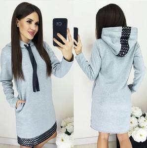 Платье короткое с длинным рукавом Ш8989