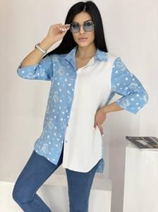 Рубашка удлиненная А39117