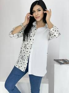 Рубашка удлиненная А39118