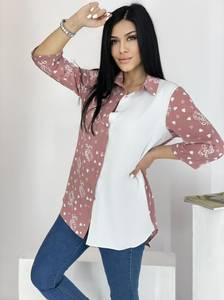Рубашка удлиненная А39119