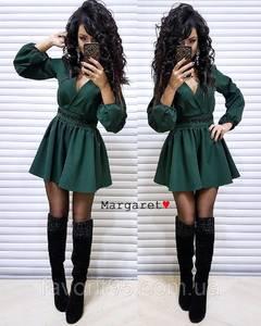 Платье короткое с длинным рукавом Ч4051
