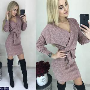 Платье короткое с длинным рукавом Ш8992
