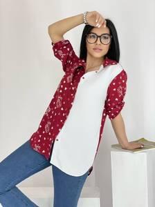 Рубашка удлиненная А39120