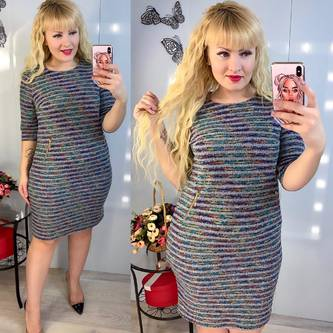 Платье короткое зимнее Ш0739
