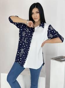 Рубашка удлиненная А39121