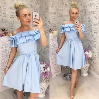 Платье короткое нарядное Ц5590
