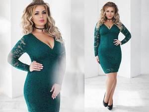 Платье короткое с длинным рукавом зеленое Х6840