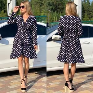 Платье короткое с длинным рукавом Ч2201