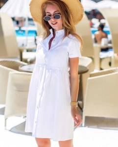 Платье короткое белое Ч4139