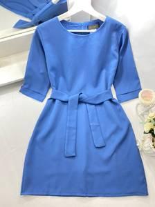 Платье короткое однотонное А50106