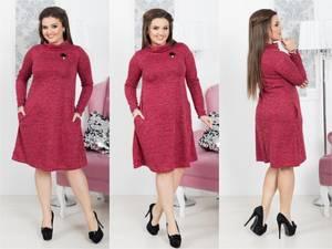 Платье короткое с длинным рукавом Ш9039