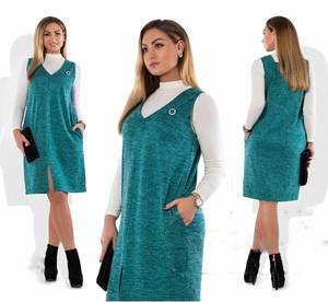 Платье Двойка короткое современное Ш8998