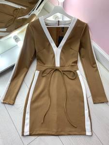 Платье короткое с длинным рукавом Я2833