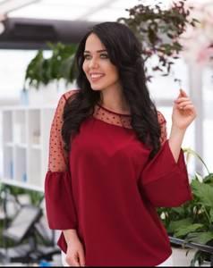 Блуза с кружевом Ц9393