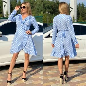 Платье короткое с длинным рукавом Ч2202
