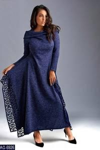 Платье длинное с длинными рукавами Ш9047