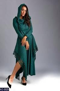 Платье длинное с длинными рукавами Ш9048