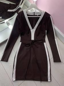 Платье короткое с длинным рукавом Я2834