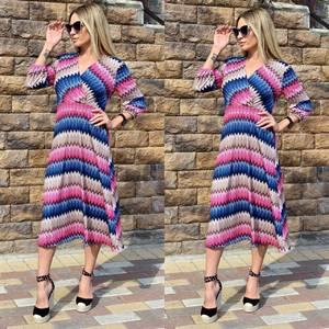 Платье длинное с принтом Ч2383