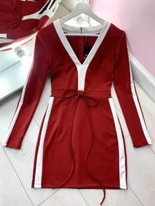 Платье короткое с длинным рукавом Я2831