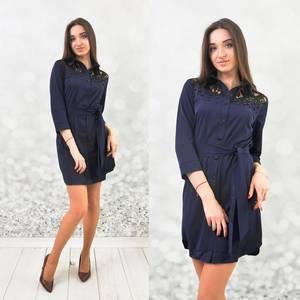 Платье короткое с рукавом 3/4 Ц5364