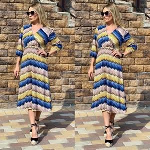Платье длинное с принтом Ч2384