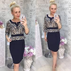 Платье короткое нарядное Ч2836