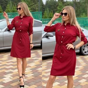 Платье короткое с рукавом 3/4 Ч2248