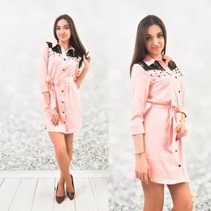 Платье короткое с рукавом 3/4 Ц5366