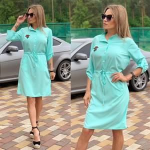 Платье короткое с рукавом 3/4 Ч2250