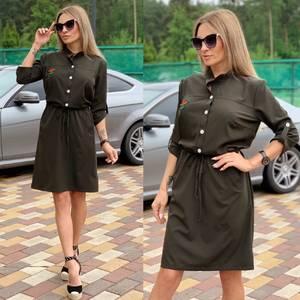 Платье короткое с рукавом 3/4 Ч2251