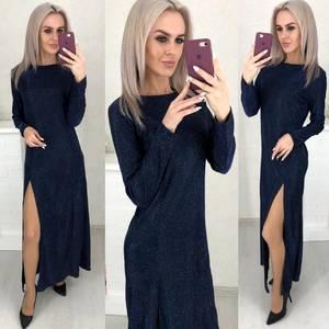 Платье длинное с разрезом на ноге Ш6070