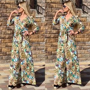 Платье длинное с принтом Ч2390