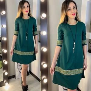 Платье короткое нарядное с рукавом 3/4 Х9520
