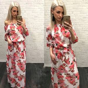 Платье длинное с принтом Я3903