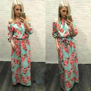 Платье длинное с принтом Я3904