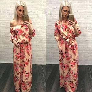 Платье длинное с принтом Я3905