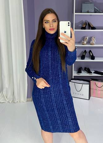 Платье короткое с длинным рукавом Ш9984