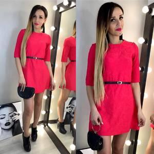 Платье короткое однотонное Х6940