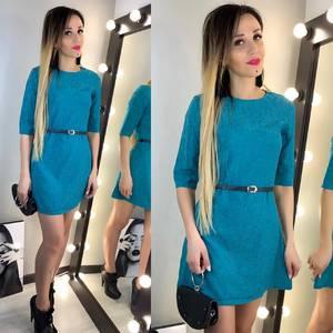 Платье короткое однотонное современное Х6942