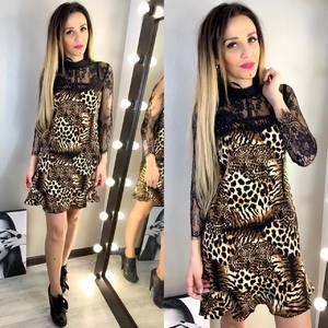 Платье короткое с принтом летнее Х9505