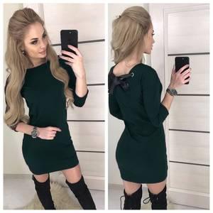Платье короткое с рукавом 3/4 современное Х8654
