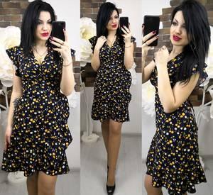 Платье короткое с принтом летнее Х6256